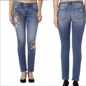 Miss me embroidered boho bird skinny jeans 25/0